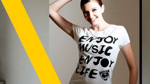 music t-shirt for girls - enjoymusic enjoylife