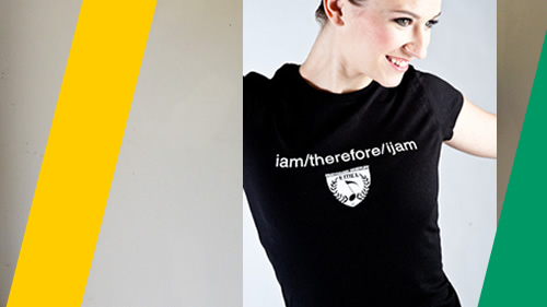 music t-shirt for girls - i am therefore i jam