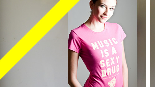 music t-shirt for girls - music is a sexy drug